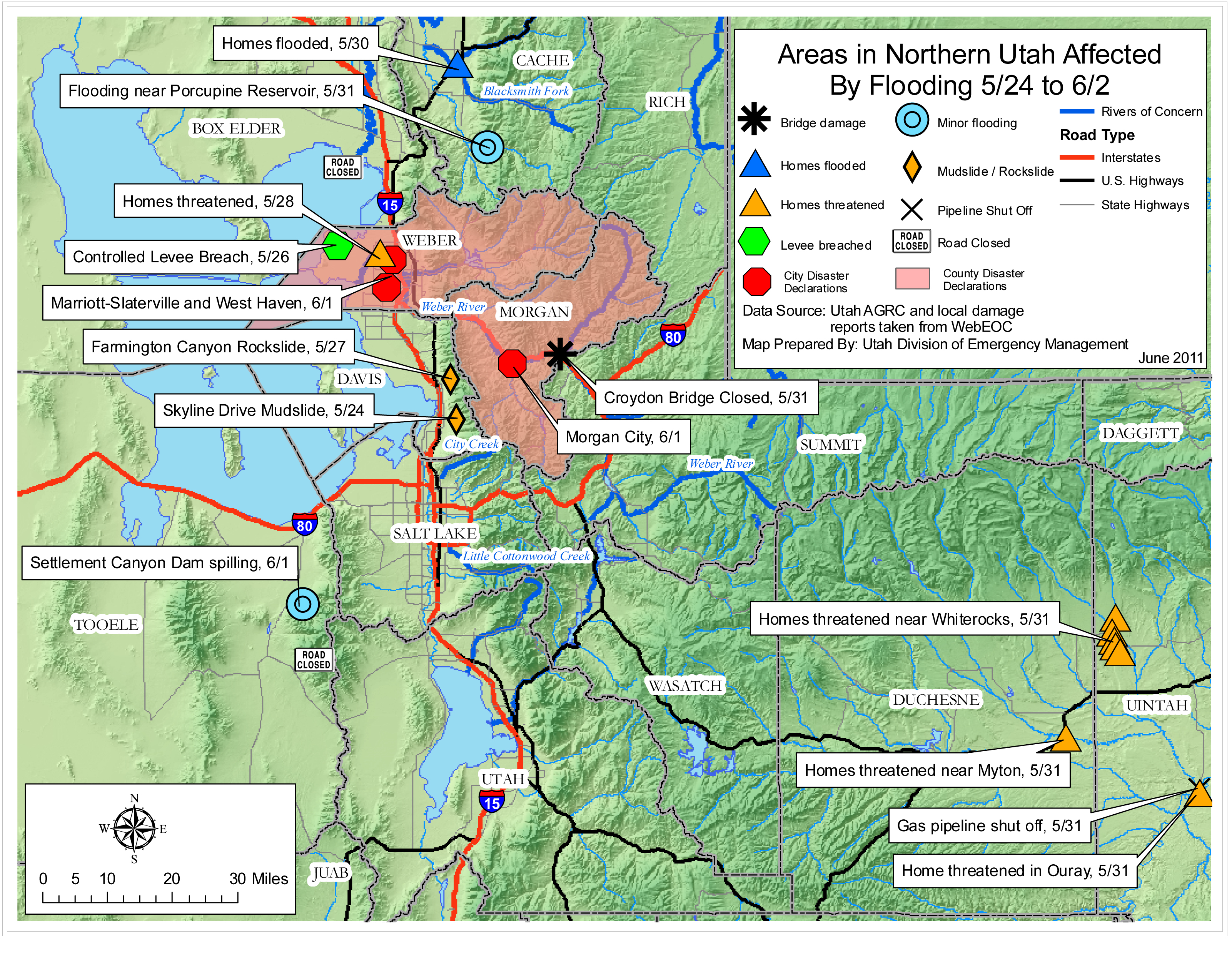 Utah Flooding Situation Reports  InfrastructureUSA