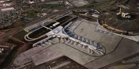 Rendering of proposed future Terminal A at Newark Liberty International Airport.