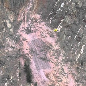 Larimer County, CO: Helicopter Delivers Rockfall Netting