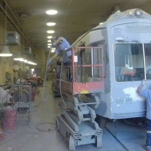 Los Angeles: Refurbishing a Light Rail Car