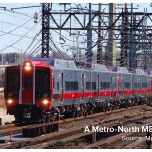A Metro-North M8 rail car - Source: Metro-North