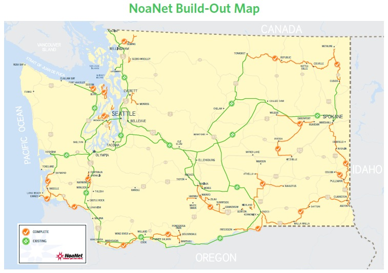 NoaNet Build-Out Map