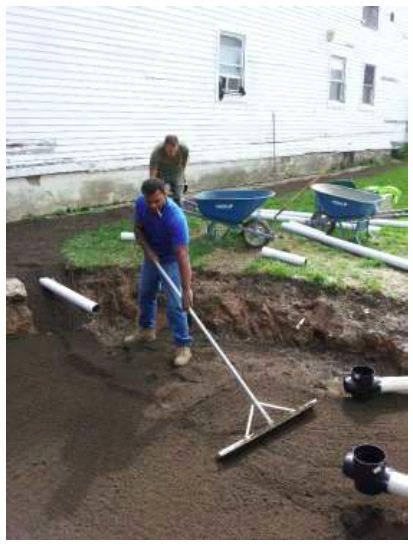 PUSH Blue crew working on green infrastructure in Buffalo's west side