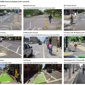 Figure ES-2. Protected Bike Lanes included in the research