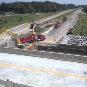 Lowell, MI: Demolition of the M-50 Bridge