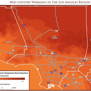 Mid-century Warming in the Los Angeles Region