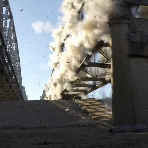Riverside, MO: Fairfax Bridge Demolition Videos