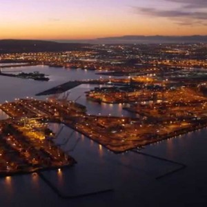 Port of Long Beach from the Air: State of the Port