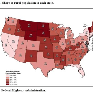 Chart 1. Share of rural population in each state.