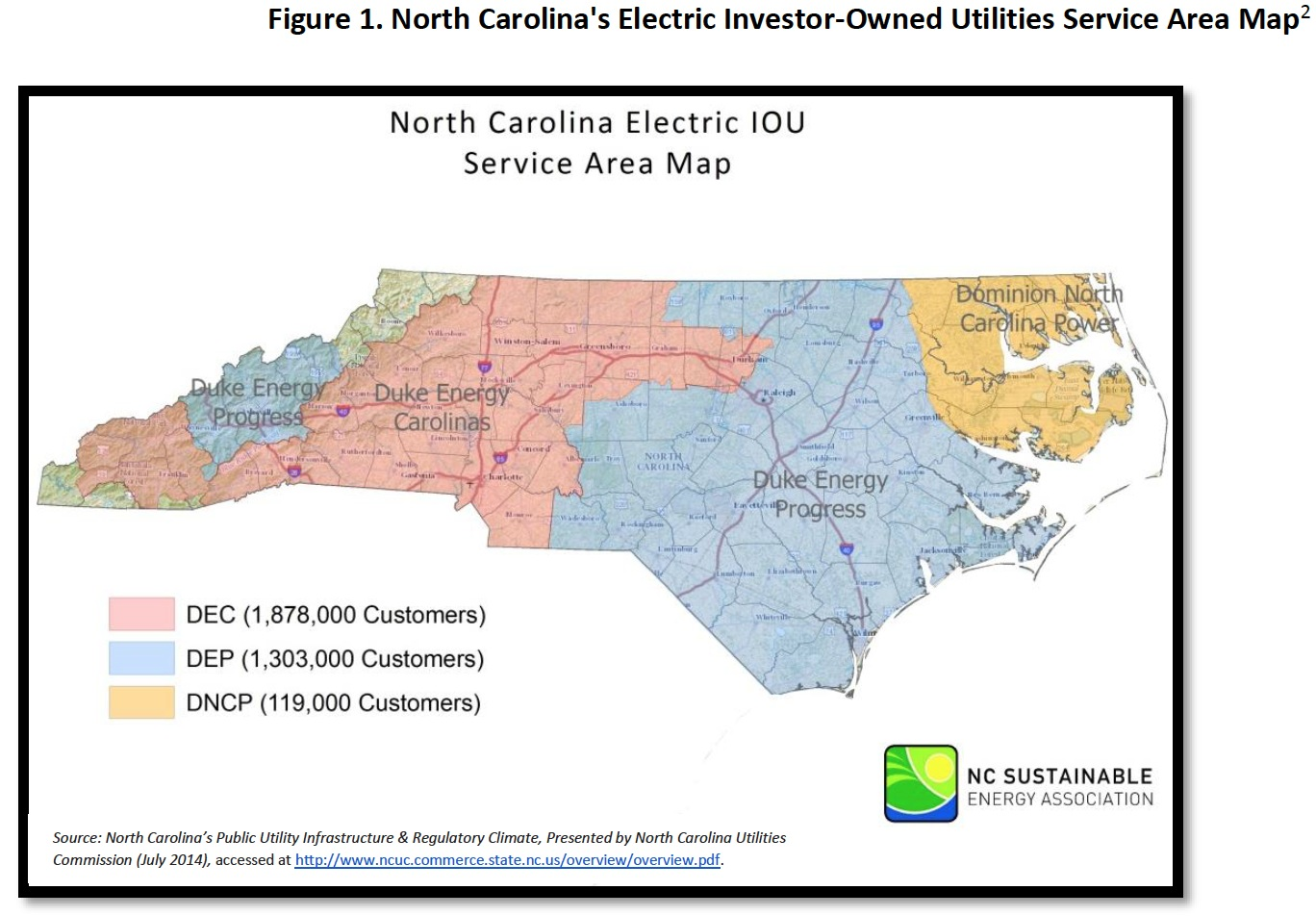 North Carolina The Impact Of Electric Choices On Residential - Map of utility service territories us
