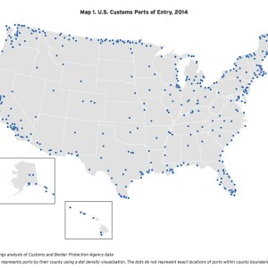 Map 1. U.S. Customs Ports of Entry, 2014