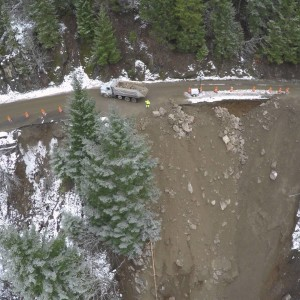 Washington State DOT: Aerial Views of a Washed-Out SR 12