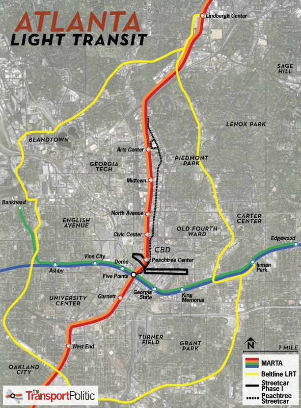 Atlanta Streetcar Map - The Transport Politic