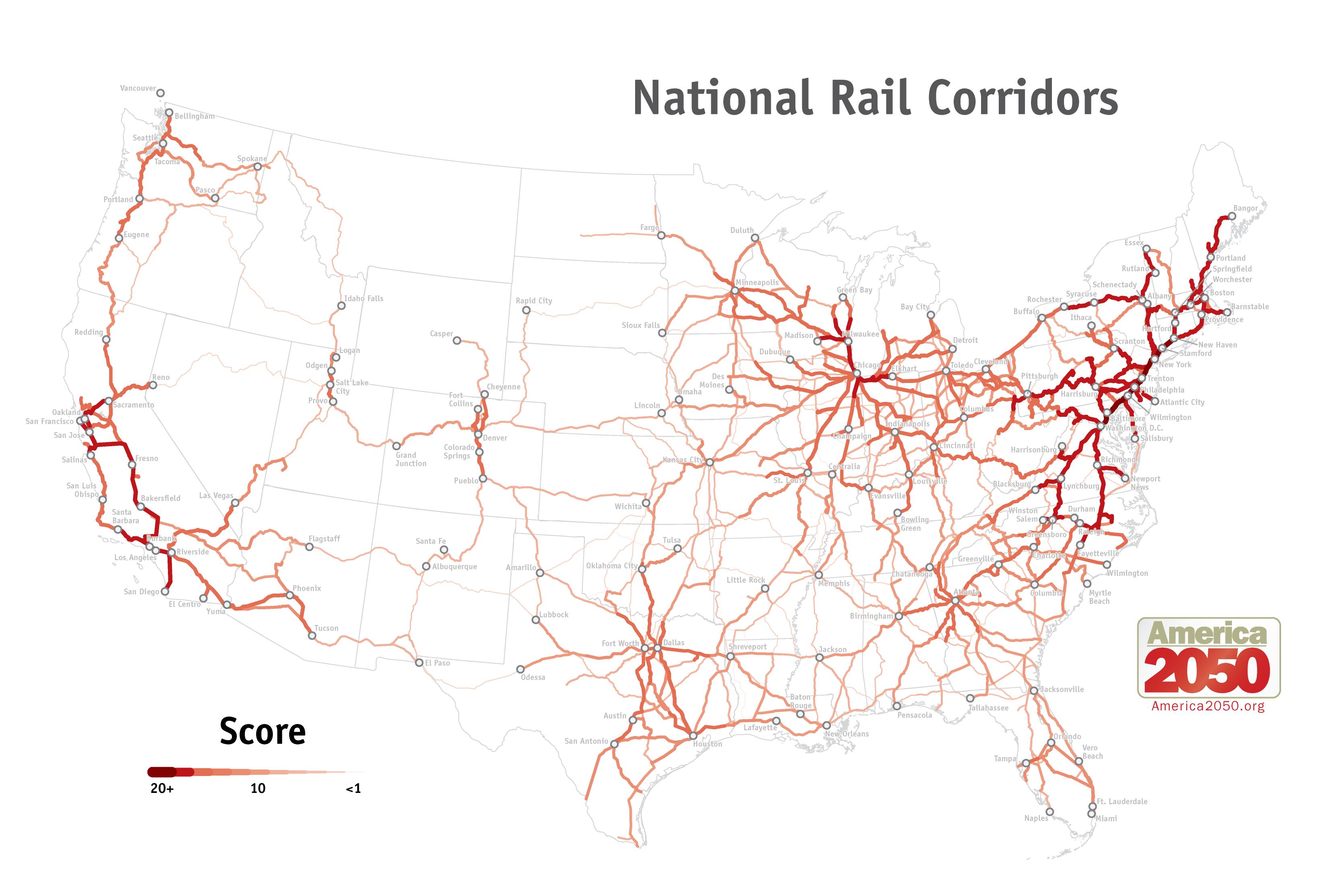 scoring of rail corridors