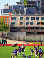 Children play soccer on a field adjacent to the Via Verde housing complex in the South Bronx, New York (Jonathan Rose Companies)