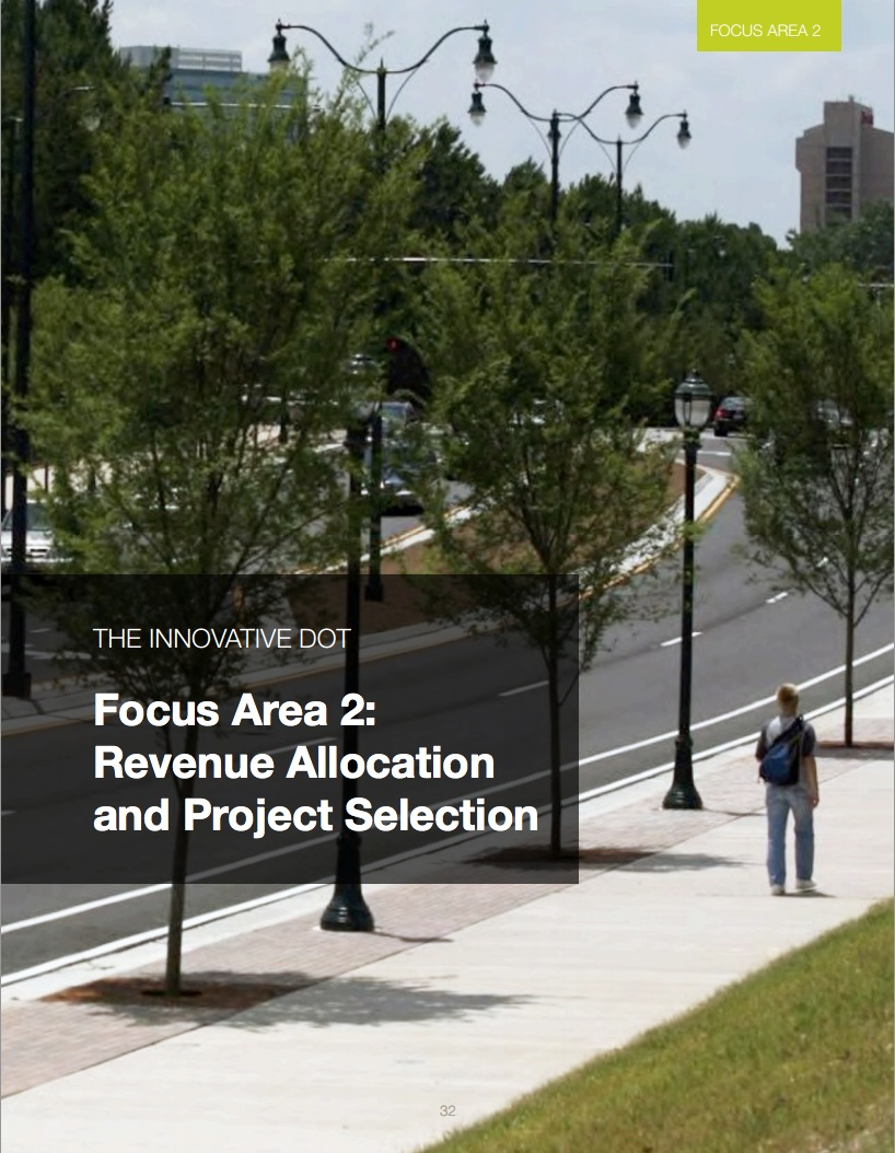 Innovative DOT: Area 2 - Revenue Allocation and Project Selection
