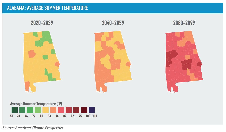 ALABAMA: AVERAGE SUMMER TEMPERATURE