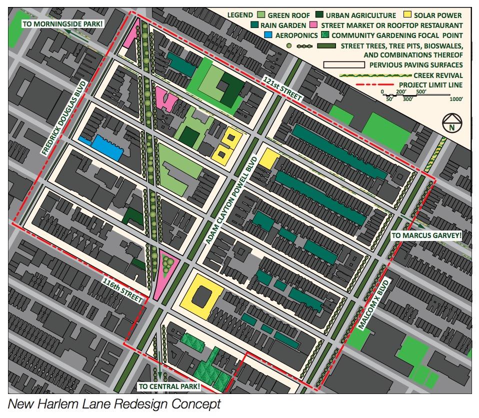 New Harlem Lane Redesign Concept