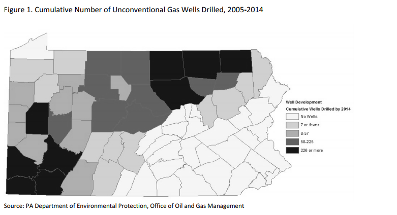 Figure 1. Cumulative Number of Unconventional Gas Wells Drilled, 2005-2014