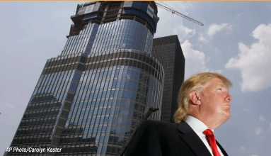 Donald Trump and Skyscraper